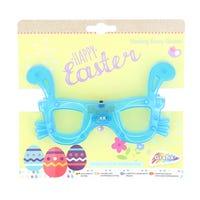 Flashing Glasses Easter Bunny Blue