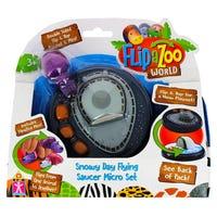 Flipazoo World Snowy Day Flying Saucer Micro Set