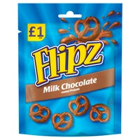 Flipz Milk Chocolate Pretzels 80g