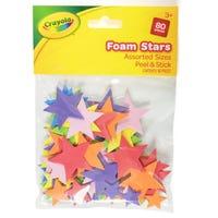 Crayola Foam Stars 80 Pieces