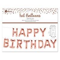 Birthday Foil Balloon Kit in Rose Gold