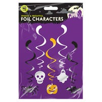 Halloween Character Swirl Decorations 10 Pack