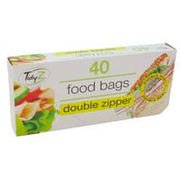 Double Zipper Bags 40 Pack