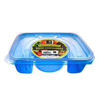 Rectangle Foodserver 4 Compartment Blue