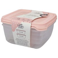 Plastic Food Containers in Blush Pink 2 Pack