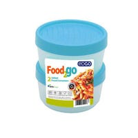 Edgo Food 2 Go 2 x Blue Food Container 500ml