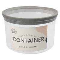 Round Storage Container in Grey 500ml