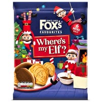 Fox's Favourites Where's My Elf? Chocolate Coated Biscuits