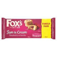 Fox's Jam 'N Cream Biscuits Twin Pack