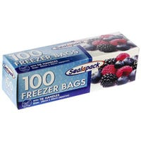 * Large Freezer Bags With Tie Handle 100 Pack