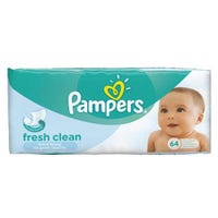 Pampers Fresh Clean Baby Wipes 64's