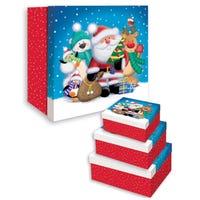 Christmas Novelty Santa Nesting Boxes 3 Pack
