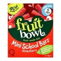 Fruit Bowl School Mini Strawberry Bars 5 Pack