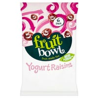 Fruit Bowl Yogurt Raisin Bars 6 Pack