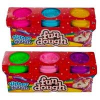 Fun Dough Glitter Clay Assorted 3 Pack