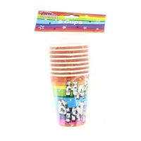 Happy Birthday Funky Party Cups 8 Pack