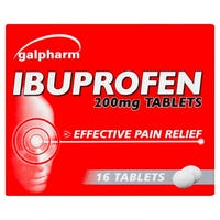 Galpharm Ibuprofen Coated Tablets 200mg 16 Pack