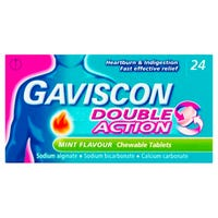Gaviscon Double Action Mint Tablets 24 Pack