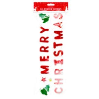 Large Christmas Gel Window Stickers in Merry Christmas