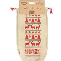 Reindeer Wine Bottle Bag