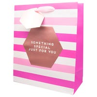 Luxury Ladies Extra Large Stripes Gift Bag