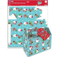 Gift Boxes Christmas Character Face 2 Pack