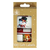 Traditional Christmas Gift Labels 100 Pack