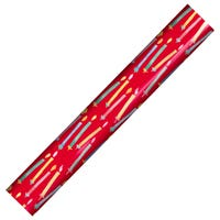 Birthday Gift Wrap in Red with Candle Print 3m