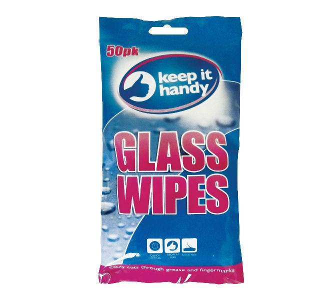 Glass Cleaning Wipes 50Pk