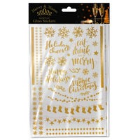 Harvey Mason Party Glass Stickers in Gold