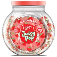 Gliese Juicy Pop Strawberry Lollies 40 Pack