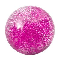 Light Up Bouncing Glitter Ball in Pink