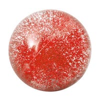 Light Up Bouncing Glitter Ball in Red