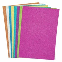 A4 Glitter Assorted Card 8 Pack
