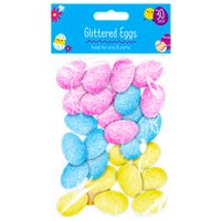 Easter Decorative Glitter Eggs 30 Pack