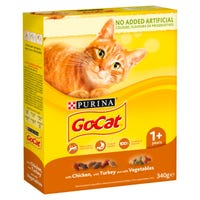 Go-Cat Comp Adult With Chicken, Turkey & Vegetables 340g