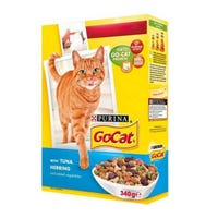 Go-Cat Cat Food With Tuna, Herring & Added Vegetables 340g