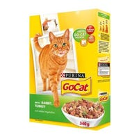 Go-Cat Cat Food With Rabbit, Turkey And Added Vegetables 340g