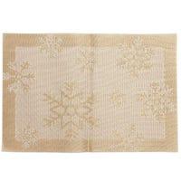 Christmas Jacquard Placemat Snowflake Gold