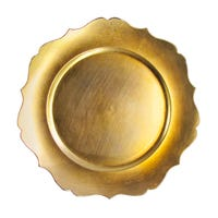Charger Plate Wavy Edge Gold 13""