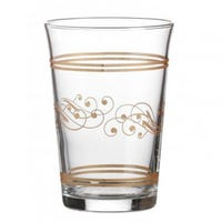 Drinking Glass with Golden Decor 3 Pack