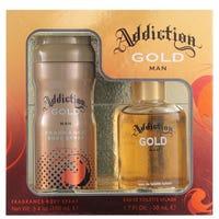 Addiction Man Gift Set Gold