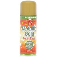 Christmas Metallic Gold Spray Paint 200ml