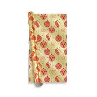 Christmas Premium Foil Gift Wrap Gold and Red Bauble 2m