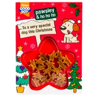 Good Boy Christmas Card with Meaty Chicken Dog Treats 15g