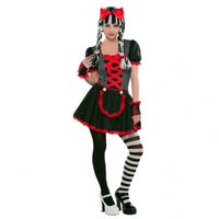 Halloween Children's Costumer Gothic Doll 10-12 Years