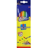 Erasable Colour Pencils Inventory 8 Pack
