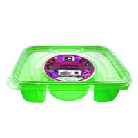 Rectangle Foodserver 4 Compartment Green