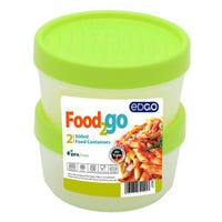 Edgo Food 2 Go 2 x Food Container 500ml Green