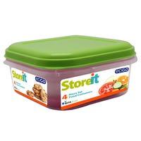 Edgo Food Storage Container Green 4 Piece